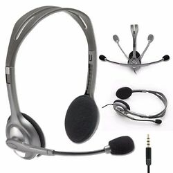 Logitech Stereo Headset H111 Headphones w Boom Microphone & Noise Cancellation