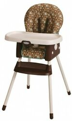 Graco SimpleSwitch Convertible High Chair Booster Little Metal Polyester Plastic
