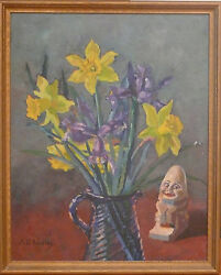 Anne Cary Bradley Oil Painting Maine Listed Artist $675.00