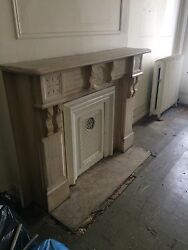 1880's White Marble Mantle Fireplace Surround (12L)