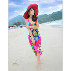 2021 Fashion Backless Women Bathing Suit Bikini Swimwear Coverup Beach Dress $6.99