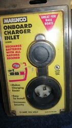 MARINCO On-board Charger Inlet 15Amp 125Volt NOS