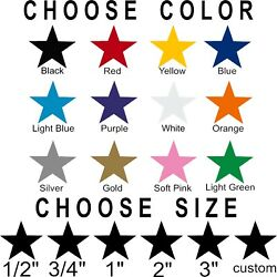 Star stickers Pick your size and color Permanent outdoor glossy vinyl decals. $4.99