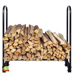 Firewood Holder Outdoor Rack Fireplace Tools Log Heavy Duty Storage Metal NEW