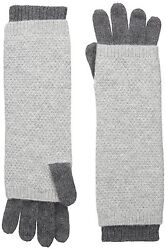 Sofia Cashmere Womens Moss Stitch Twofer Long Gloves Castlerock GreyDrizzle