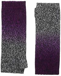 Sofia Cashmere Womens 100 Percent Cashmere Dip Dye Marl Fingerless Long Gloves
