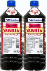 2X Dark Danncy Pure Mexican Vanilla Extract 33oz1L Ea Plastic Bottle From Mexico $23.00