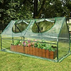 Waterproof UV protected Reinforced Mini Cloche Greenhouse Portable Green House