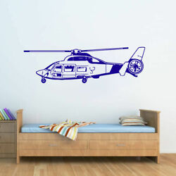 ik322 Wall Decal Sticker Decor sky helicopter military kids $28.99