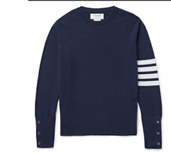 Thom Browne new wtags Stripe cashmere navy sweater customisable fit soldout 02