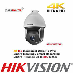 8MP Ultra HD Hikvision 36X Outdoor Smart IRSamrt Tracking IP PTZ Speed Dome 4K