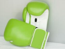 Green Boxing Gloves for Sparring CompetitionBonded Leather with Air Maxx Palm $29.95