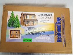Real Good Toys Adirondack  Log Cabin & Doll House Kit wInstructions J-550
