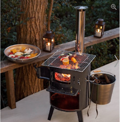Japanese Outdoor Heater (Stove) by Firewood and Charcoal for Cooking