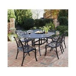 Outdoor Patio Garden Yard Sets Dining Furniture Set Chair Table 7 Piece Seats 6