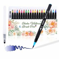 Ohuhu 20 Colors Watercolor Brush Pen Water Based Markers for Painting Art