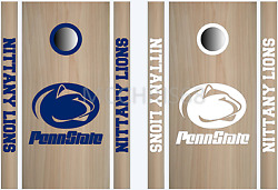 Penn State Cornhole Bean Bag Toss Vinyl Decal Set -8pcs- Multiple Colors