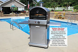 HomeComfort US STOVE 16K BTU Propane Stainless Outdoor Pizza Oven! SALE PRICE!!