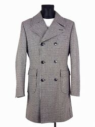 Beautiful Mens Italian Trench Coat M Double Breasted Wool Cashmere Rare