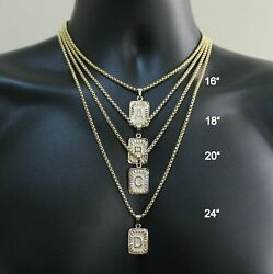 Womens Mens Gold Filled A-Z Initial Necklace Letter Pendant Box Chain Unisex $7.59