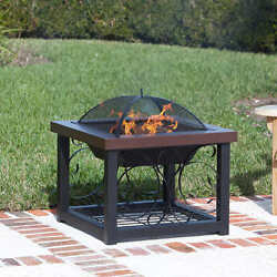 Fire Pit Backyard Patio Outdoor Fireplace Wood Burning Heater Deck Firepit Bowl