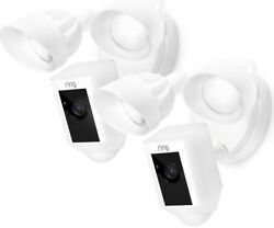Ring Outdoor Wi-Fi Cam with Motion Sensor Activated Floodlight White (2-Pack)