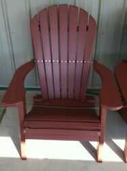 Deluxe (wide) Poly lumber folding adirondack chairs-HDPE recycled Plastic
