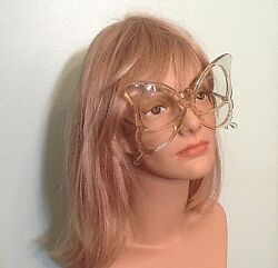 Rare Vintage Anglo American Optical Butterfly Clear Frame Eyeglasses England