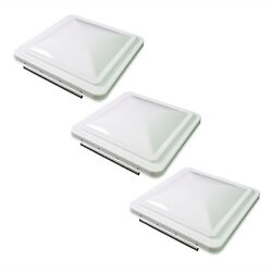 3 Pack White 14quot; x 14quot; Replacement Roof Vent Cover Camper RV Trailer Ventline $42.99