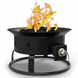 Regal Flame Camp Mate 58000 BTU Portable Propane Outdoor Fire Pit with Lid an...