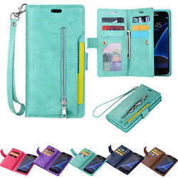 For Samsung Note 10+98S10eS9 Phone Case Cover Card Wallet Flip Leather Stand