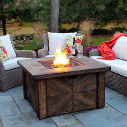 Fire Pit Table Propane Outdoor Backyard Patio Gas Heater Fireplace Deck LP Cover