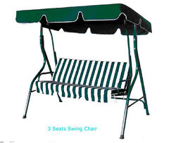 Patio Swing Chair 3 Seater Iron Outdoor Garden Canopy Bench Seat Hammok Awning
