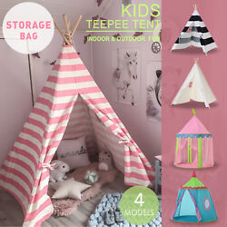 Large Portable Teepee Tent  For kids Play Indian Tent  Indoor Outdoor Girl Gift