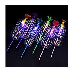 Kids LED Magic Spinning Stick with Light Up Bubble Ball Sparkling Spinner Toys