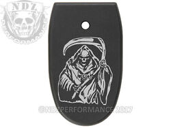 for Smith Wesson Mamp;P Full Size 45 Mag Floor Base Plate BK Grim Reaper 1 $15.95