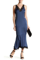 Sexy quot;Silkyquot; Lace Trim Maxi Slip Dress from Nordstrom Cocktail Party Fun NEW S $34.95