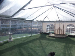 West Coast Frame greenhouse tent CLEAR SIDEWALL panel commercial grade 20' long