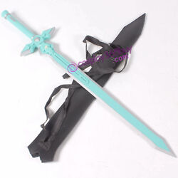 Sword Art Online Kirito White Sword WOOD made with faux leather sheath prop
