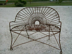 Wrought Iron Antique Style Bench Metal Several colors Patio and Deck Furniture