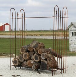 Rustic Fireplace Log Rack Firewood Storage Holder Wood Stove Fire Pit Many Sizes