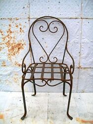 Wrought Iron Heart Chair Solid Metal Several colors Patio and Deck Furniture