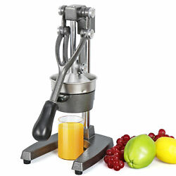 Large Commercial Juice Press Manual Citrus Juicer w Stainless Steel Funnel