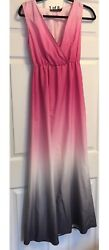 The Limited Outback Red Maxi Long Dress. Pink Gray White Ombre XS. GORGEOUS $25.99