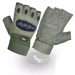 Fingerless Tactical Assault Contact Gloves Hard Knuckle Military Army $31.91