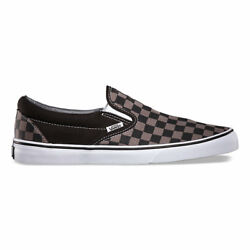 Vans CHECKERBOARD SLIP-ON BLACKPEWTER CHECKER  Canvas Classic Shoes Fast Ship