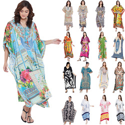 Kaftan Dress Caftan Beach Cover Boho Gown Hippie Beach Women African Plus Size $13.99