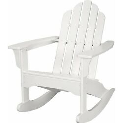Hanover Outdoor Furniture HVLNR10WH All Weather Contoured Adirondack Rocking ...