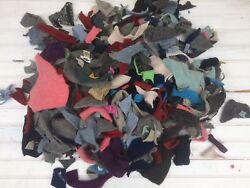 HUGE LOT CUT FELTED WOOL SWEATER SCRAP PIECES 4# ~ FOR WOOL APPLIQUE PROJECTS