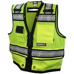 DeWALT Heavy Duty Class 2 Reflective Surveyor Safety Vest YellowGreen